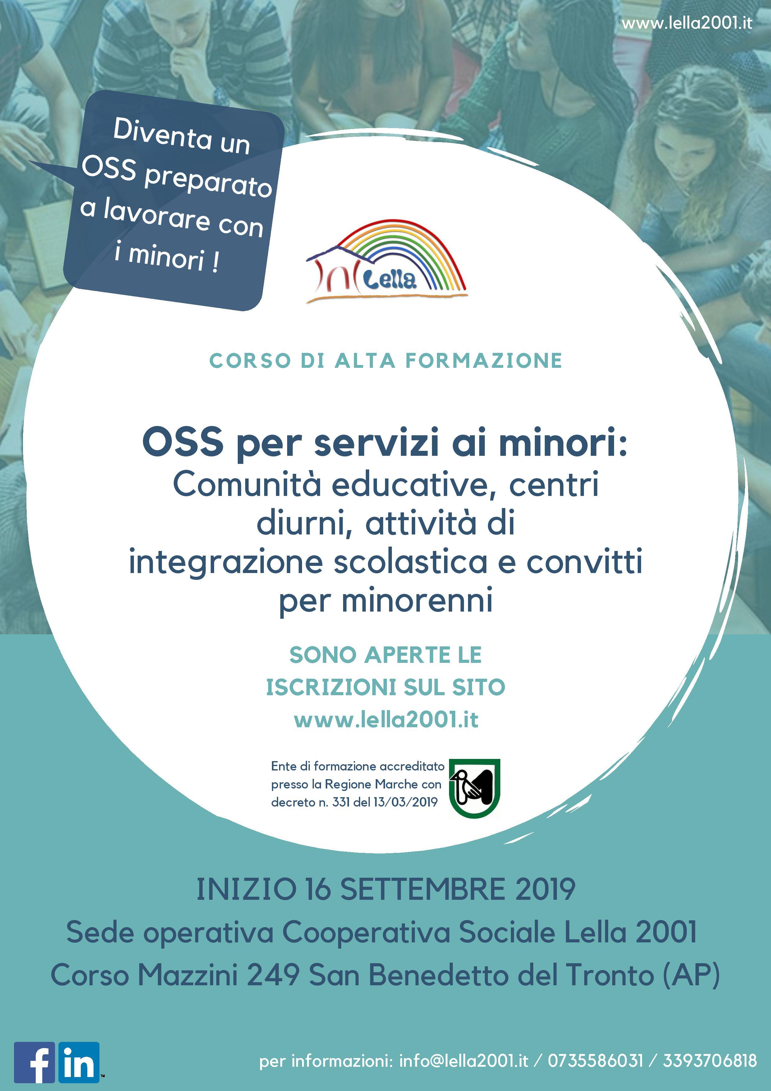 Corso OSS per comunità educative minorenni